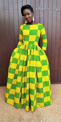 african print dresses African print dresses can be styled in a plethora of ways. Ankara, Kente, & Dashiki are well known prints. See over 50 of the best African print dresses. African Dresses For Women, African Print Dresses, African Fashion Dresses, African Attire, African Wear, African Prints, African Women, African Style, African Fashion Designers