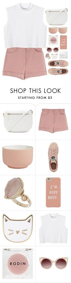 """Too busy to care"" by tania-maria ❤ liked on Polyvore featuring Forever 21, CB2, Puma, Topshop, Des Petits Hauts, Monki, Rodin Olio Lusso, WithChic and NARS Cosmetics"