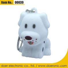 Premium Dog Shaped LED ABS Keychain with Sound | Doer Electronic the Animals Novelty Gadgets Supplier from China, Welcome to the World of Animals Fun.