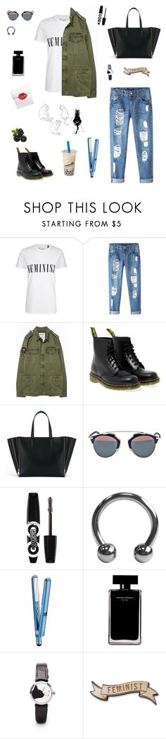 """""""Senza titolo #165"""" by alicemasiero ❤ liked on Polyvore featuring Tee and Cake, Chicnova Fashion, Dr. Martens, Christian Dior, Rimmel, BaByliss and Narciso Rodriguez"""