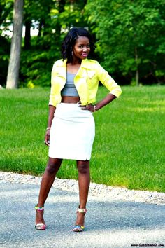 What to Wear with a Yellow Jacket: Lisa a la mode #fashion #outfit #ootd Summer Outfit