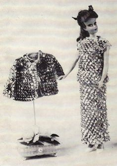 Pattern for Barbie's Outfit of Bling.  I'm very tempted to try to knit it.
