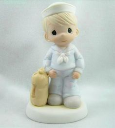 Precious Moments Bless Those Who Serve Their Country Navy Figurine $165