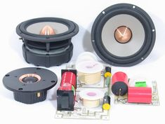 This article explores the differences between capacitor and inductor types utilized in the crossover designs and how they may affect measurable and sonic performance of your loudspeakers. High Quality Speakers, Speaker Box Design, Speaker Plans, Audio Studio, Diy Speakers, Sound Design, Loudspeaker, Electronics Projects, Car Audio