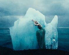 """There She Waits on Her Throne of Ice"" —  Photographer: Kory Zuccarelli - Zuke Photography Model: Lieke Ann Haertjens - Lieke Anna Photography Location: Jökulsárlón Glacial Lagoon, Iceland"