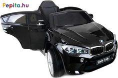 A Funfit Kids BMW X6 M F16 elektromos autó tökéletes ajándék minden gyermek számára! Nagyon szórakoztató nem csak a fiúknak, hanem a lányoknak is. Gyermeked maga vezérelheti az autót, te pedig távirányítóval rendelkezel, így segítve gyermeked, ha esetleg nem tudná még irányítani a járgányt. A vezetési élményt tovább fokozzák a beépített dallamok és a külső forrásból származó hang csatlakoztatásának képessége, lehetősége!       Jellemzői:  - BMW logóval aláírva  - 2x 6V 7Ah akkumulátor  - 2x… Bmw X6, Vehicles, Car, Kids, Products, Young Children, Automobile, Boys, Children