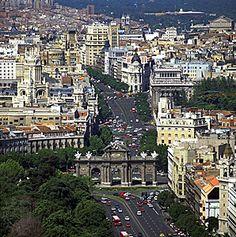 Puerta de Alcalá, Madrid, Spain...  La Gran Vía en Madrid...Been There!