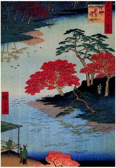 Utagawa Hiroshige Inside Akiba Shrine Art Print Poster Affiches sur AllPosters.fr