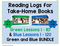 Interactive notebook leveled literacy intervention lli blue level e leveled literacy intervention lli reading logs for green and blue lli kits bundle reading intervention fandeluxe Gallery