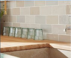 Chic Craquele mixed colour wall tiles for the kitchen