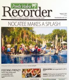 The 4th Annual Nocatee Polar Plunge in the PV Recorder. #newspaper #residenttestimonial