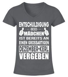 370a0f9083f017 DEZEMBER KERL - V-Ausschnitt T-Shirt Frauen #Shirts #ValentinstagTShirt  Valentine T