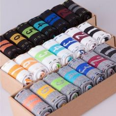 Newest 7 Pairs/set Men Boys Casual Dress Cotton Sports 7days Week Comfortable Daily Sock Ankle