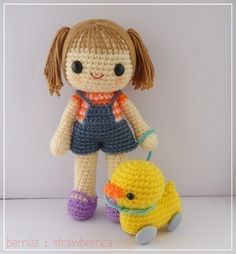 PDF Crochet Pattern - Miki and 4-wheel duck. $5.00, via Etsy.