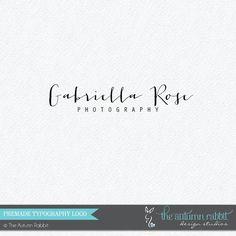 Premade Photography Logo Design  2 font logo by TheAutumnRabbit,