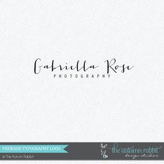 Premade Photography Logo Design - 2 font logo design - Handwriting style photography logo - Business Branding - Business Branding on Etsy, $30.00