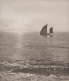 Sunrise at Sea - Peter Henry Emerson Emerson, 6 Photos, Pictures, Environmental Science, Vintage Photos, In The Heights, Sailing, Art Photography, Sky