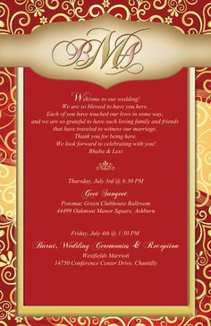Custom Indian Inspired Design Wedding Itinerary by 4WeddingWelcomeBags, $1.50