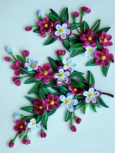 Quilled Flowers & Leaves - By: Cris Tan