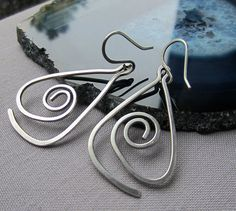 Sterling Silver  Hammered Earrings/ Free shipping by mese9 on Etsy, $27.00