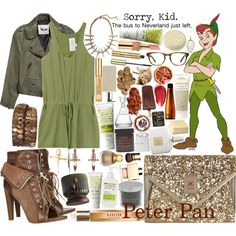 Disney Challenge:: Peter Pan by sbhackney on Polyvore featuring Acne Studios, Rory Beca, Alexander Wang, Dorothy Perkins, LowLuv, Wildfox, Charlene K, Bing Bang, Juicy Couture and Warby Parker