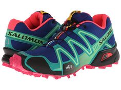 Salomon Speedcross 3 G Blue Emerald Green Hot Pink - Zappos.com Free 38a52db449d
