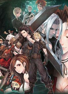 Artwork Final Fantasy, Final Fantasy Tattoo, Final Fantasy Cloud, Final Fantasy Characters, Final Fantasy Vii Remake, Fantasy Series, Art Anime, Anime Manga, Cloud And Tifa