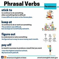Do you ever want to give up studying English? Don't do it! Stick to it and keep at it, and your hard work will pay off! These phrasal verbs are related to persistence. When has your hard work paid off? #AmericanEnglish #PhrasalVerbs