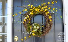 Let's celebrate a new month and Spring's coming by making a Forsythia wreath for our front door! Forsythia are beautiful brambly early Spring flowers. They are wild, bright, school bus yellow blooms on long tangled branches. And they are a sure sign Spring is here to stay! Welcome Spring and family and guest to …