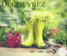 découvrez gratuitement les secrets pour jardiner avec succes .... Hunter Boots, Organic Gardening, Rubber Rain Boots, Solution, Sims 3, Vegan, Diy, Gardens, Gifts