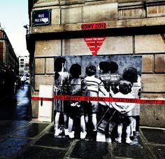Spotted: Beautiful street art in Paris, France for Cover The Night #KONY2012 #invisiblechildren #coverthenight