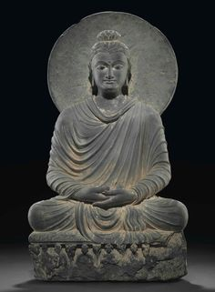 A grey schist figure of Buddha made in the kingdom of Gandhara in the or century BC was the top lot at Christie's on September The lot led a sale of Budha Art, Buddha Figures, Buddha Sculpture, Buddha Meditation, Taoism, Buddhist Art, Antique Art, Lovers Art, Photo Art