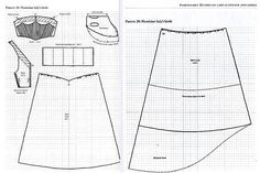 """Pattern for kirtle (reduced) from """"The Tudor Tailor"""", by Ninya ..."""