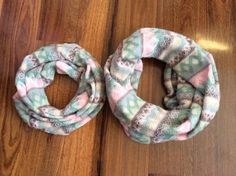 Mommy & Me Infinity Scarves Set Sofia Colection by SissyandTodo
