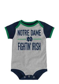 Two Feet Ahead Dame Fighting Irish Go NCAA College Newborn Infant Baby Creeper