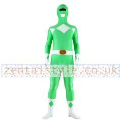Male Hood Detachable Green and White Lycra Spandex Superhero Zentai Suit Full Body [CTWL111219016] - £33.39 : Zentai, Sexy Lingerie, Zentai Suit, Chemise