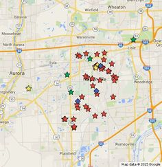 The Naperville Suns annual holiday lights map features new and old