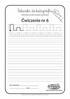 Kaligrafia dla dzieci - Ćwiczenia kaligraficzne / Szlaczki / Ćwiczenie nr 6