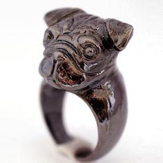 buymadesimple.com: Jet Black Pug Ring