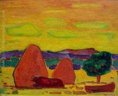 """Norberto Berdía """"Sol de Mediodía"""" Óleo sobre tela 40 X 50 cms. Año 1976  http://www.portondesanpedro.com/ver-producto.php?id=8727"""