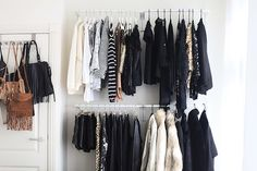 Closet Open Wardrobe, Wardrobe Rack, Closet Bedroom, Closet Space, Dream Furniture, Diy Furniture, Berlin Apartment, Small Closet Organization, Tumblr Rooms