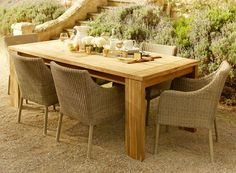 Love this table with the wicker chairs! Early Settler
