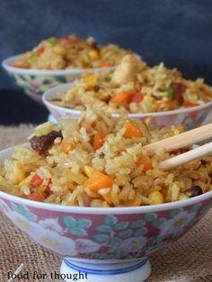 Greek Recipes, Rice Recipes, Asian Recipes, Chicken Recipes, Dinner Recipes, Cooking Recipes, Ethnic Recipes, Tasty Videos, Asian Kitchen