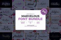 Marvelous Font Bundle (92% Off) by Unicode on @creativemarket