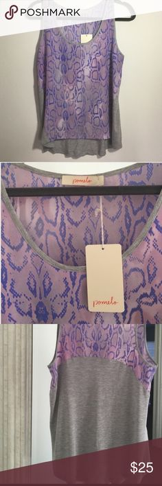 NWT Pomelo animal print top NWT. I love this super-cute top but need a bigger size. Stitch Fix brand top, 100% rayon. automatically save when you bundle or use the offer button to make an offer!  Pomelo Tops