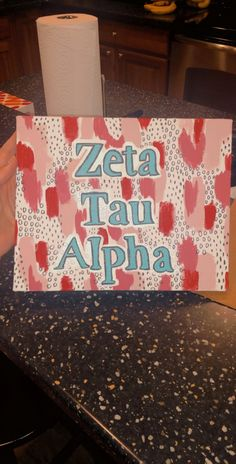 Discover recipes, home ideas, style inspiration and other ideas to try. Sorority Bid Day, Sorority Letters, Sorority Big Little, Sorority Crafts, Big Little Basket, Big Little Gifts, Zeta Tau Alpha, Alpha Chi, Kappa Delta Canvas