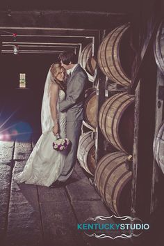 Buffalo Trace Distillery Wedding Couple