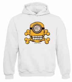 """Kapuzen Sweatshirt """"Skull Minion"""" Fruit of the Loom, Beuteltasche, 80% Baumwolle"""