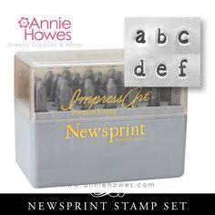 Impressart Metal Stamps - Newsprint Alphabet Stamp Lowercase Set