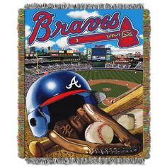 "Braves """"Home Field Advantage"""" 48x60 Tapestry Throw"